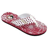 Women's College Edition Florida State Seminoles Floral Polka-Dot Flip-Flops