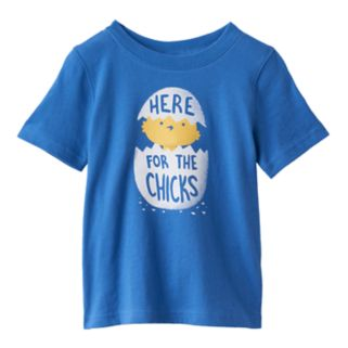 "Baby Boy Jumping Beans® ""Here For The Chicks"" Tee"