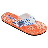 Women's College Edition Florida Gators Floral Polka-Dot Flip-Flops