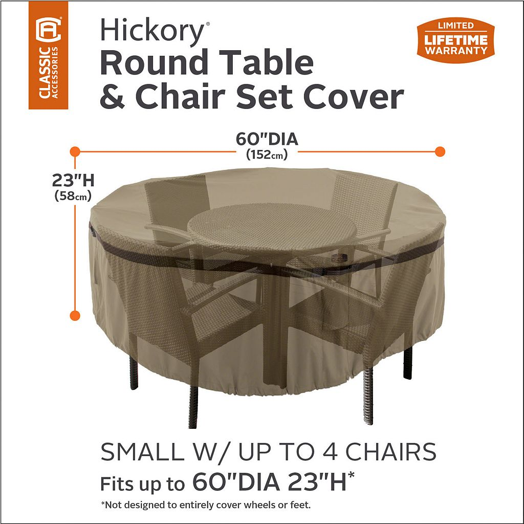 Hickory Small Round Patio Table & Chairs Cover