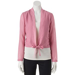 Juniors' Candie's® Cropped Tie Front Top
