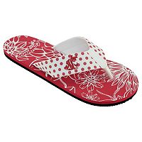 Women's College Edition Washington State Cougars Floral Polka-Dot Flip-Flops