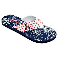 Women's College Edition Arizona Wildcats Floral Polka-Dot Flip-Flops