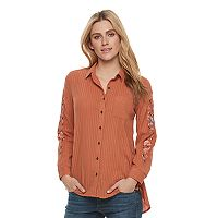 Women's SONOMA Goods for Life™ Embroidered Essential Shirt