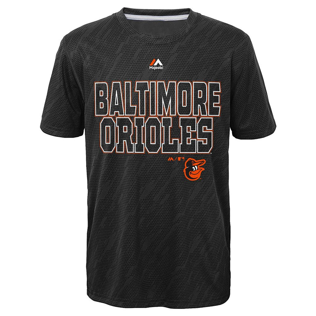 Boys 8-20 Majestic Baltimore Orioles Geo Fuse Sublimated Cool Base Tee
