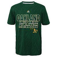 Boys 8-20 Majestic Oakland Athletics Geo Fuse Sublimated Cool Base Tee