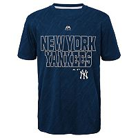 Boys 8-20 Majestic New York Yankees Geo Fuse Sublimated Cool Base Tee