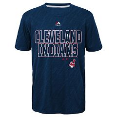 Boys 8-20 Majestic Cleveland Indians Geo Fuse Sublimated Cool Base Tee