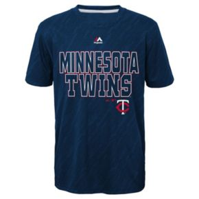 Boys 8-20 Majestic Minnesota Twins Geo Fuse Sublimated Cool Base Tee