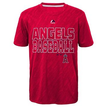 Boys 8-20 Majestic Los Angeles Angels of Anaheim Geo Fuse Sublimated Cool Base Tee