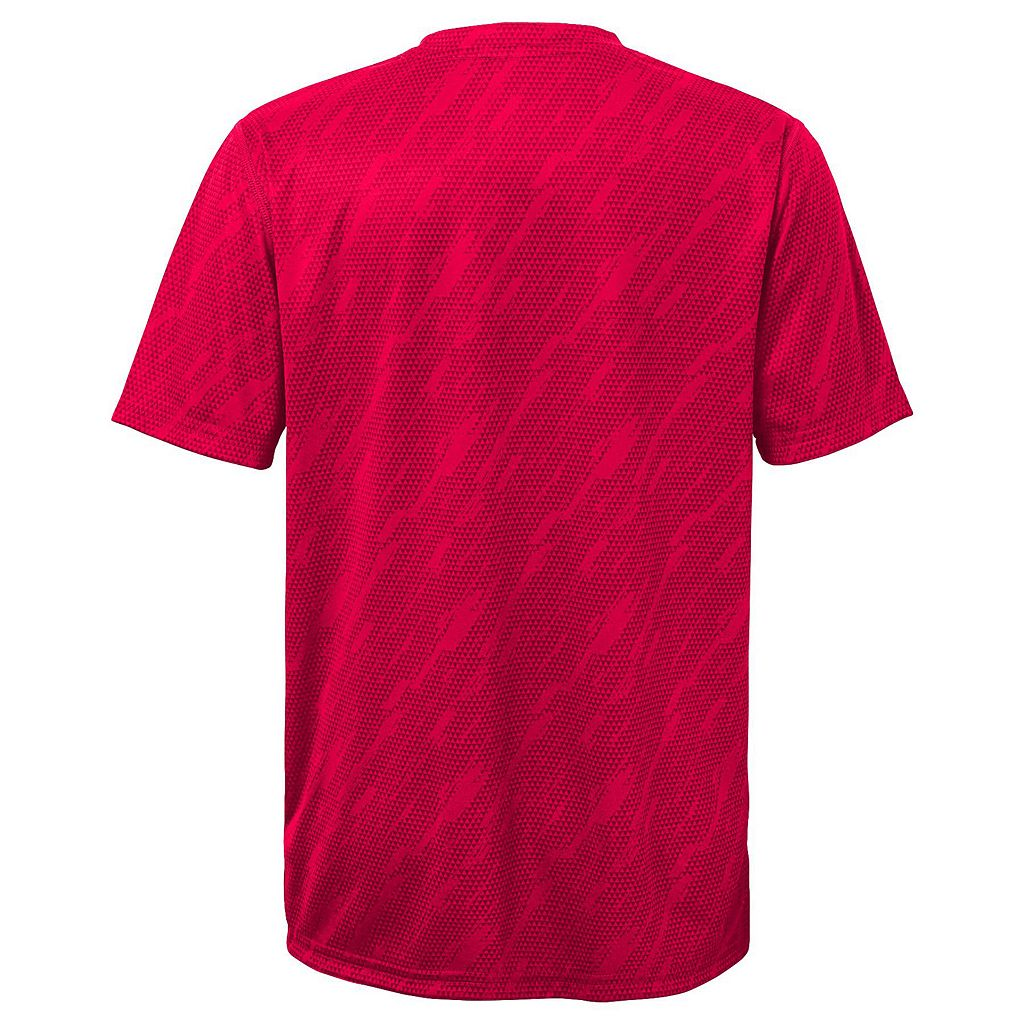 Boys 8-20 Majestic Cincinnati Reds Geo Fuse Sublimated Cool Base Tee