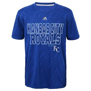 Boys 8-20 Majestic Kansas City Royals Geo Fuse Sublimated Cool Base Tee