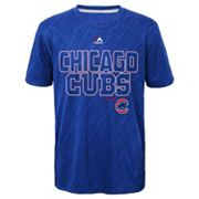 Boys 8-20 Majestic Chicago Cubs Geo Fuse Sublimated Cool Base Tee