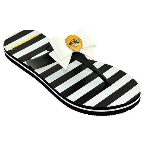Women's College Edition Missouri Tigers Bow Flip-Flops