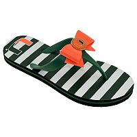 Women's College Edition Miami Hurricanes Bow Flip-Flops