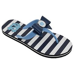 Women's College Edition North Carolina Tar Heels Bow Flip-Flops