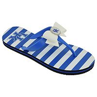 Women's College Edition Kentucky Wildcats Bow Flip-Flops