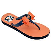Women's College Edition Auburn Tigers Bow Flip-Flops