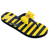 Women's College Edition West Virginia Mountaineers Bow Flip-Flops