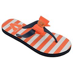 Women's College Edition Virginia Cavaliers Bow Flip-Flops