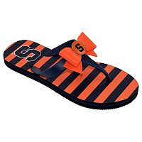 Women's College Edition Syracuse Orange Bow Flip-Flops