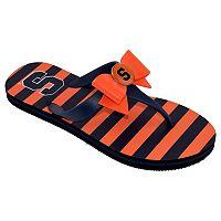 Women's College Edition Syracuse Orange Bow Flip-Flops