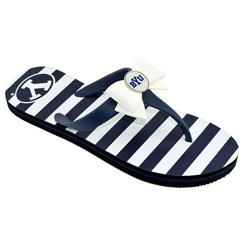 Women's College Edition BYU Cougars Bow Flip-Flops