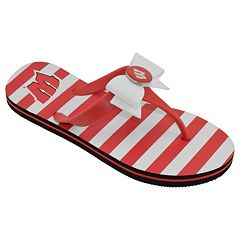Women's College Edition Wisconsin Badgers Bow Flip-Flops