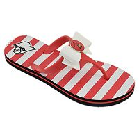 Women's College Edition Louisville Cardinals Bow Flip-Flops