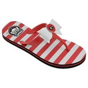 Women's College Edition Georgia Bulldogs Bow Flip-Flops