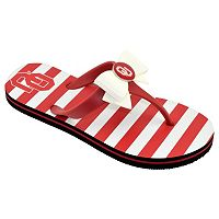 Women's College Edition Oklahoma Sooners Bow Flip-Flops