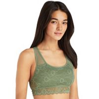 Juniors' SO® Bras: Floral Lace Racerback Bralette
