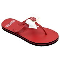 Women's College Edition Indiana Hoosiers Bow Flip-Flops