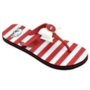 Women's College Edition Arkansas Razorbacks Bow Flip-Flops