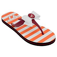 Women's College Edition Virginia Tech Hokies Bow Flip-Flops