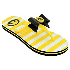 Women's College Edition Iowa Hawkeyes Bow Flip-Flops