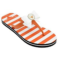 Women's College Edition Texas Longhorns Bow Flip-Flops