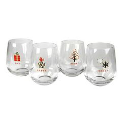 Artland Tidings 4-pc. Stemless Wine Glass Set