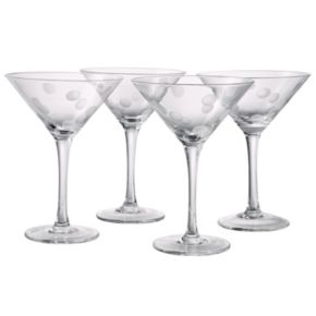 Artland 4-pc. Polka-Dot Martini Glass Set