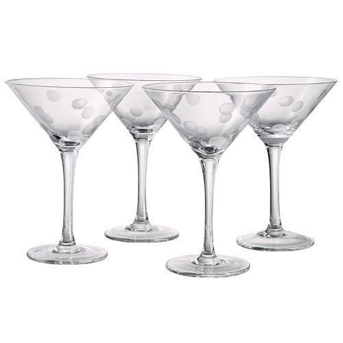 Artland 4-pc. Polka-Dot Martini Glass Set