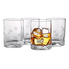 Artland Polka-Dot 4 pc Double Old-Fashioned Glass Set