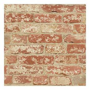Roommates Faux Brick Peel & Stick Wallpaper Wall Decal