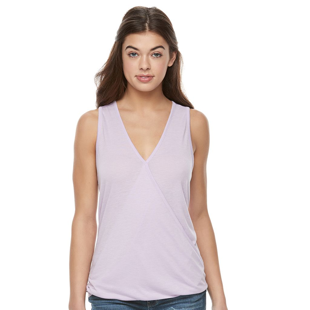 Juniors' Awake Surplice High-Low Tank