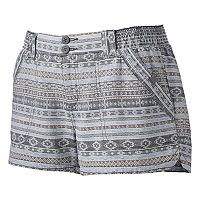 Juniors' Rewind Smocked Linen Shortie Shorts
