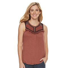 Women's SONOMA Goods for Life™ Embroidered Fringe Tank
