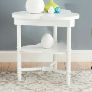 Safavieh Clover White End Table