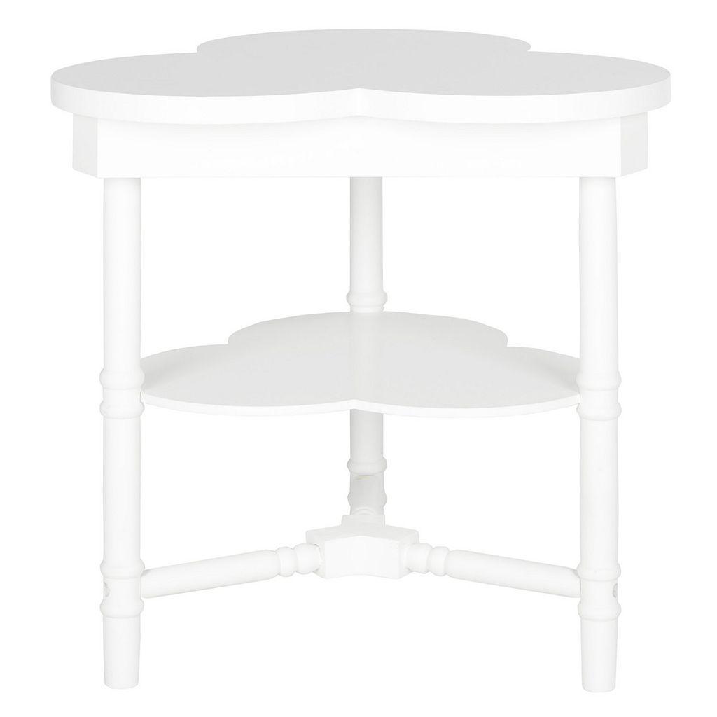Safavieh Clover White End Table