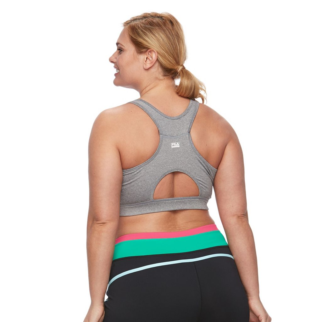 Plus Size FILA SPORT® Bras: Medium-Impact Performance Running Sports Bra