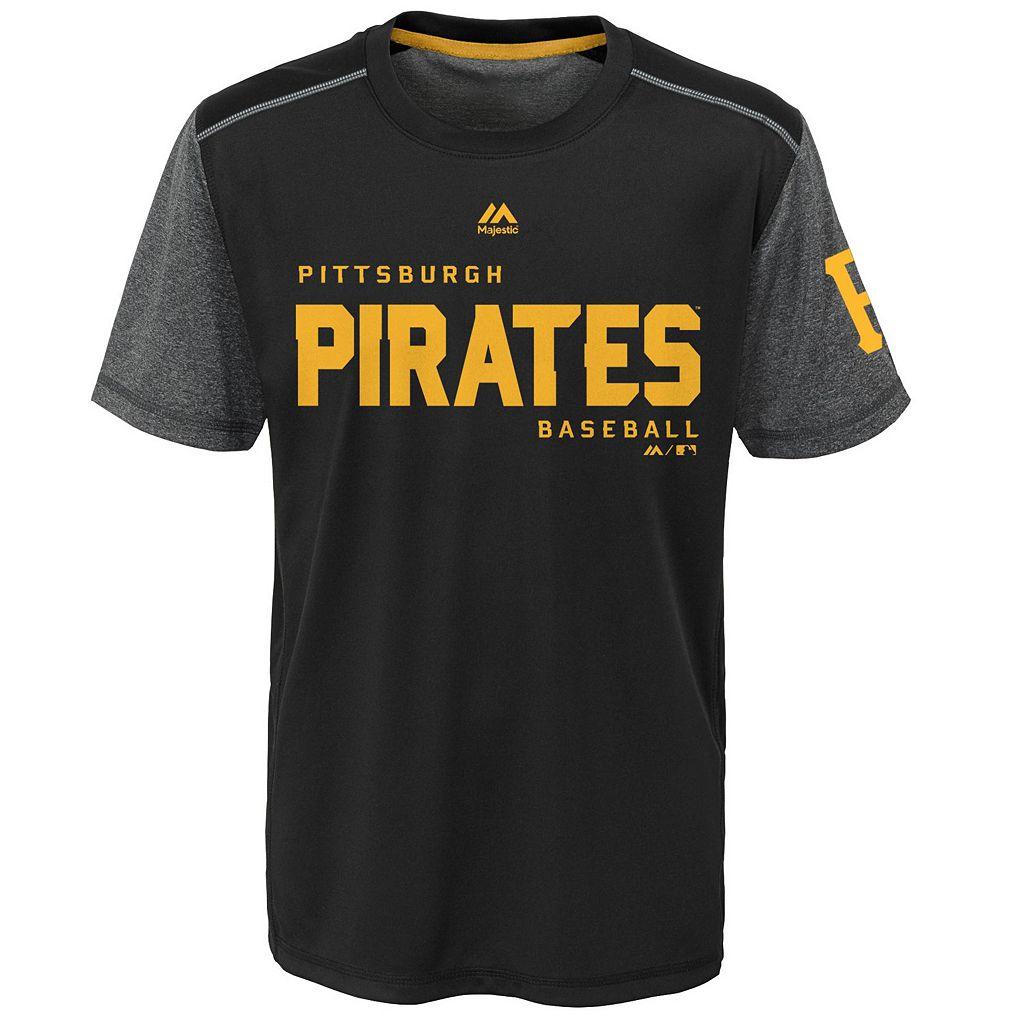 Boys 8-20 Majestic Pittsburgh Pirates Club Series Cool Base Tee