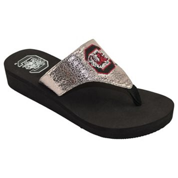 Women's South Carolina Gamecocks Shine Platform Flip-Flops